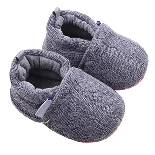 Fheaven Fashion Autumn and Winter Warm Baby Girls Shoes Sneaker Anti-slip Soft Sole Toddler Shoes (US:4, Gray)