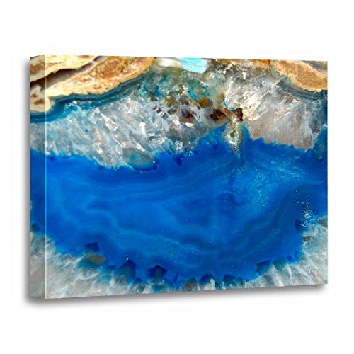 TORASS Canvas Wall Art Print Abstract Blue Crystal Geology Rocks Minerals Gemstones Artwork for Home Decor 12