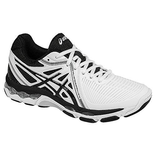 Asics Womens Gel Netburner Ballistic Volleyball Shoe  White Black Silver  10 5 M Us