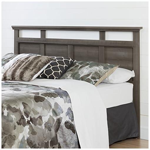 Bedroom South Shore Versa Headboard, King 78-Inch, Gray Maple farmhouse headboards