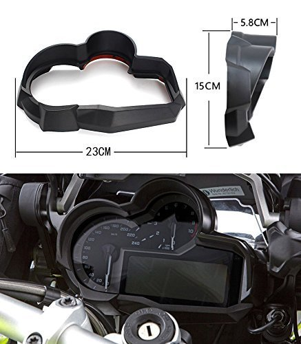 FATExpress Motorcycle Black Speedo/Tach Tacho Meter Tachometer/Gauge Plastic Housing Cover Case/for 2014-2018 BMW R1200GS R 1200 GS LC Adventure ADV 2015 2016 2017 14-18