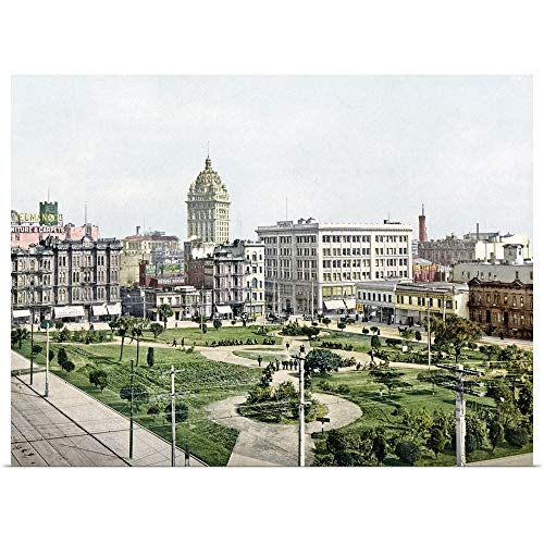 """GREATBIGCANVAS Poster Print Entitled Union Square San Francisco California Vintage Photograph by The Henry Ford 40""""x30"""""""