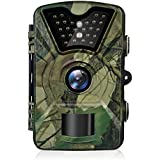 Trail Game Camera, 1080P HD 12MP Infrared Night Vision Hunting Outdoor Camera, 0.5s Trigger Speed and 65 Feet Trigger Distance, Weatherproof Motion Sensor for Wildlife Surveillance