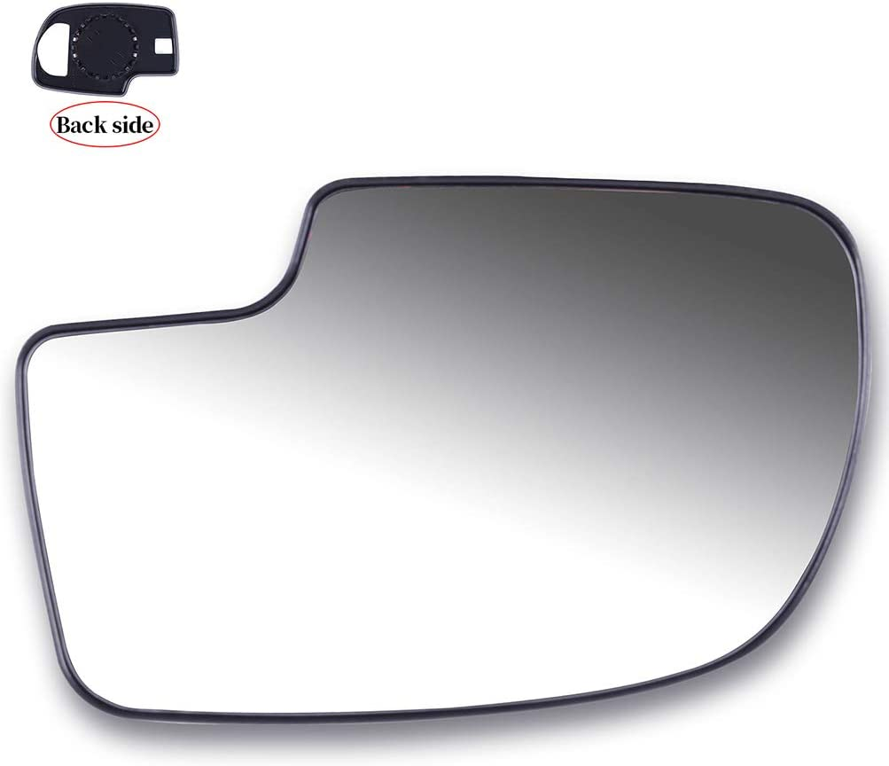 ANGLEWIDE Driver Side Mirror Glass Non-Heated Fit for 2001-2006 Chevrolet Silverado Pickup Chevrolet Suburban Chevrolet Tahoe GMC Sierra Pickup GMC Yukon
