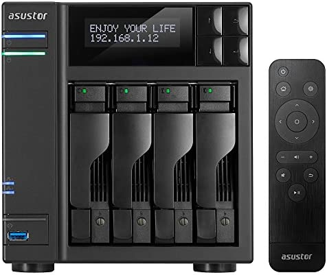 8GB RAM Personal Private Cloud Home or Business Data Media Server 1.5GHz Quad-Core Network Attached Storage Asustor AS6404T AS-RC13 Remote 4 Bay Diskless NAS