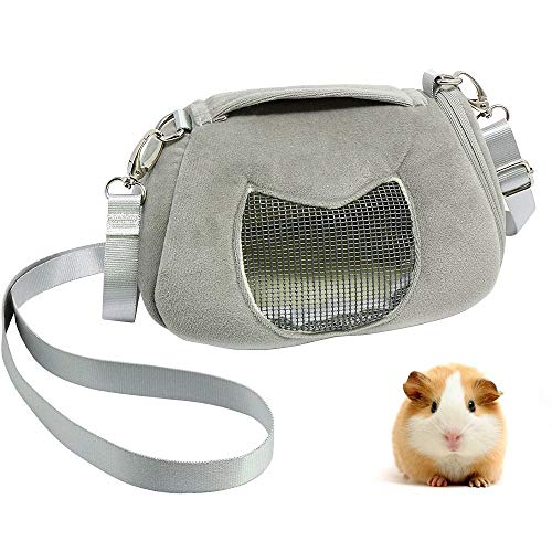 - ASOCEA Portable Pet Carrier Outgoing Handbag with Adjustable Single Shoulder Strap Pouch for Sugar Glider Hamster Squirrel Small Animals 7.08x4.72x3.93 Inch