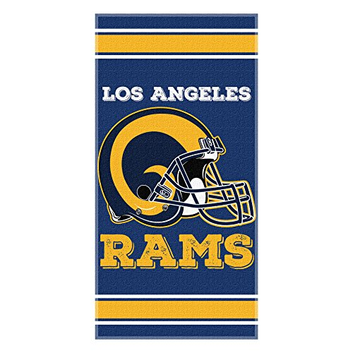 The Northwest Company Officially Licensed NFL Los Angeles Rams NFL Streak Beach Towel, 30'' x 60'', Millennium Blue by The Northwest Company