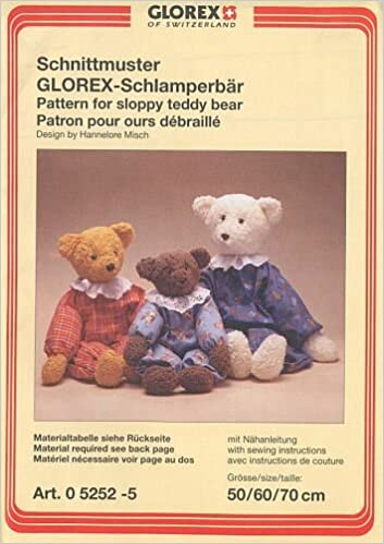 Schnittmuster Schlamperbär Pattern for Sloppy Teddy Bear . Patron ...
