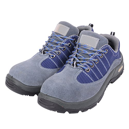 Shoes Optimal Suede Safety Men's Steel Shoes Comp Work Toe Gray Shoes xRf8O