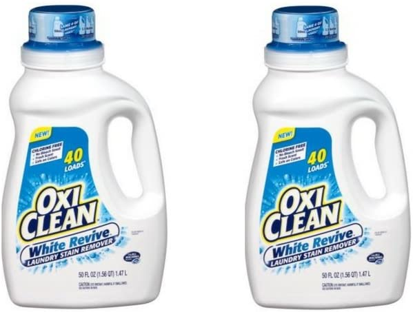 OxiClean, White Revive, Laundry Stain Remover, Liquid -40 Loads (2 Pack)
