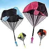 MineSha 4PCS Tangle Free Hand Throwing Parachute
