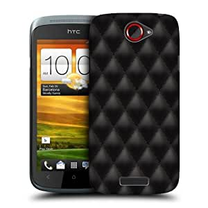 Head Case Designs Black Diamond Cushions Protective Snap-on Hard Back Case Cover for HTC One S