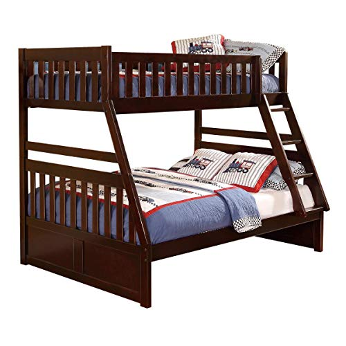 Homelegance Rowe Twin/Full Bunkbed - Dark Cherry B2013FDC-1