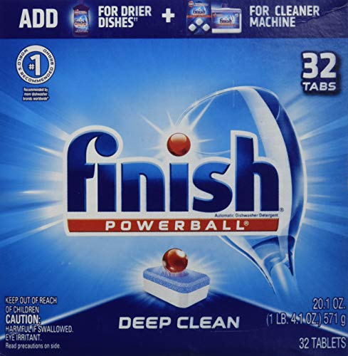 Finish - All in 1 - 32ct - Dishwasher Detergent - Powerball - Dishwashing Tablets - Dish Tabs