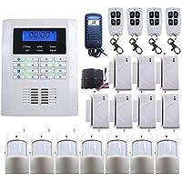 DBPOWER Ja-10bgsm 101 Zones Wireless GSM Home Security Alarm Burglar System for Fire, Gas Leak, Door Lock, Living Room, Window, Balcony,and Perimeter Burglar with Auto Dial