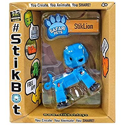 Stikbot Safari Pets Solid Blue StikLion: Toys & Games