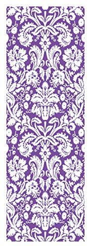 (Locker Designz Deluxe Magnetic Locker Wallpaper, Damask Purple and White )