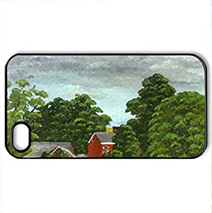 Swart Tavern - Case Cover for iPhone 4 and 4s (Houses Series, Watercolor style, Black)