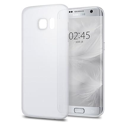 buy popular bcac0 87177 Galaxy S7 Edge Case, Spigen Air Skin - Semi-Transparent Lightweight  Material for Samsung Galaxy S7 Edge (2016) - Soft Clear
