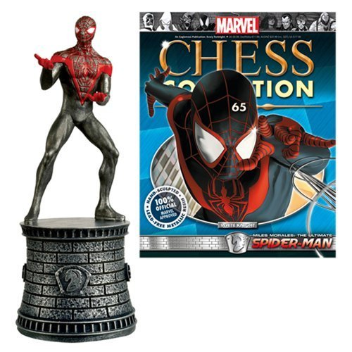 Marvel Ultimate Spider-Man White Knight Chess Piece with Collector Magazine