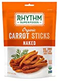 Rhythm Superfoods Carrot Sticks, Naked, Organic and Non-GMO, 1.4 Oz (Pack of 4), Vegan/Gluten-Free Superfood Snacks For Sale