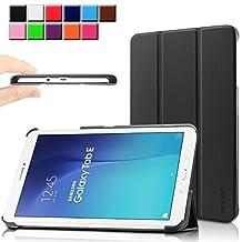Samsung Galaxy Tab E 9.6 case - Infiland Ultra Slim Tri-Fold Case Cover for Samsung Tab E / Tab E Nook 9.6-Inch Tablet (SM-T560 / T561 / T565 / SM-T567V Verizon 4G LTE) (Tab E 9.6 Inch, Black)