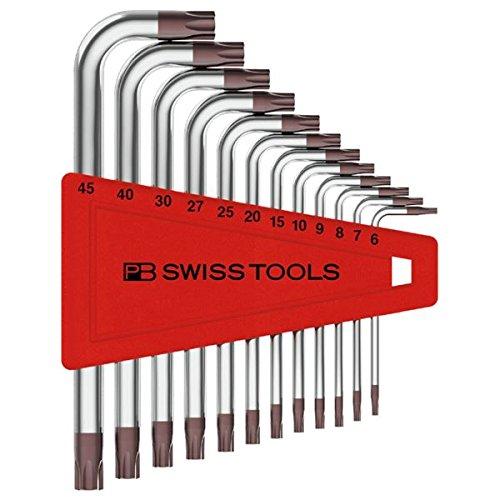 生活日用品 DIYグッズ工具 410H/6-45 L型ヘクスローブレンチセット(パックなし) B07565T84K