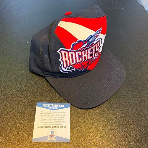 Hakeem Olajuwon Signed Autographed Houston Rockets Hat With Beckett COA