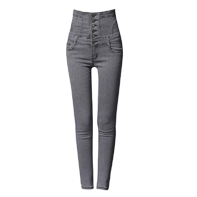 Fuxitoggo Pantalones Vaqueros Rectos del tamaño Extra Grande ...