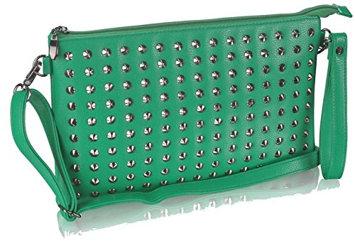 Gorgeous Gorgeous Purse Green Detail With Stud DELIVERY FREE UK Green xOFZZ