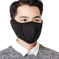 Specification:- Color: Black/Blue/Grey/Wine Red/Camouflage/Pink for your choosing- Material: Cotton+Fleece- Size: 60cm/23.6Inch in total Length - Net weight: 43gPackage include: 1PCS in one pack for each colorFeatures:- Combine mouth mask wit...