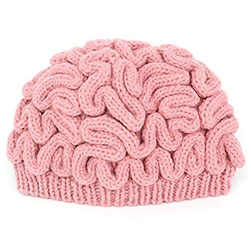 LZWIN Creative Hand Made Brain Knitted Hat Unique Thinking Cap ()