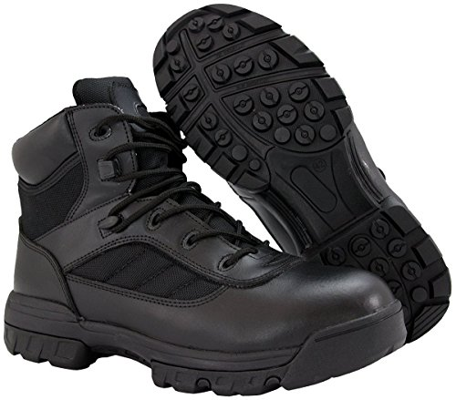 Ryno Gear Tactical Combat Boots with CoolMax Lining (Black) - stylishcombatboots.com