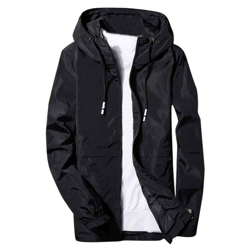 Gallity Men's Winter Hoodie Softshell Track Jacket Patchwork Waterproof Windproof Outdoor Coat (2XL, Black)