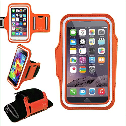 Sports Armband for Samsung Galaxy S5 and HTC One M7 (Orange) - 1