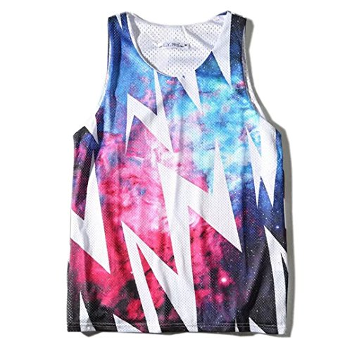 Ariely Chevaliers Men's Sport Tank Tops Sleeveless Vest Reversible Mesh Breathable Stylish Tank Tops (Reversible Vest Sleeveless)