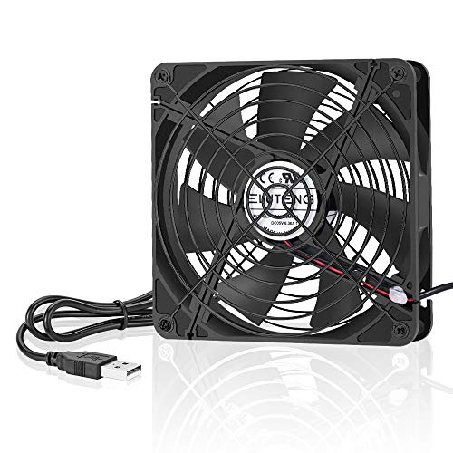 ELUTENG USB Fan 120mm Router Cooling Fan 5V DVR Cooling USB Blower Mini AV Cabient Cooler Ventilator Compatible for Xbox/Receive/PC