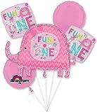 One Wild Girl 1st Birthday Balloon Bouquet (Each)