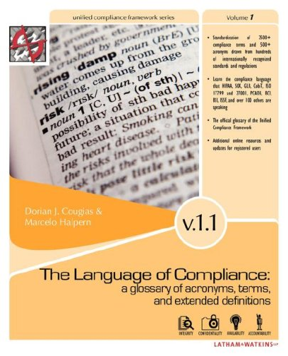 The Language of Compliance: A Glossary of Terms, Acronyms, and Extended Definitions by Brand: Shaser-Vartan