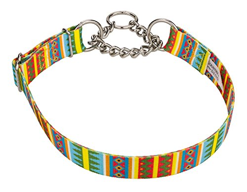 Multicolour Check (Country Brook DesignSpring Pines Half Check Dog Collar - Large)