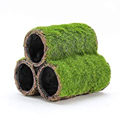 The Penn Plax Hideaway Pipe Aquarium Decoration offers visual interest to your tank while reducing fish boredom. The three stacked pipes have bright green realistic moss which adds color and texture to your fish tank. Pipes are designed to a...