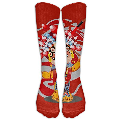Peking Opera Thin Cotton Stretch Naughty Men Women Knee Compression Socks Knee Socks For Travelers