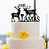 Personalized Wedding Cake Topper with Name and Date Design Cake Toppers With Animals Wedding Cake Toppers