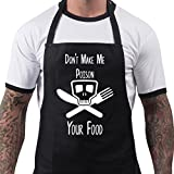 BBQ Apron Funny Aprons For Poison Your Food Barbecue Grill Kitchen Gift One Size