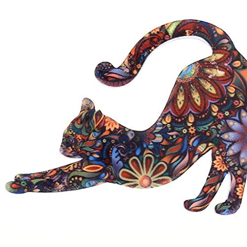 Xeminor Premium Graceful Lovely Unisex Cat Brooch Lapel Pin Enamel Badges Accessory by Xeminor (Image #3)