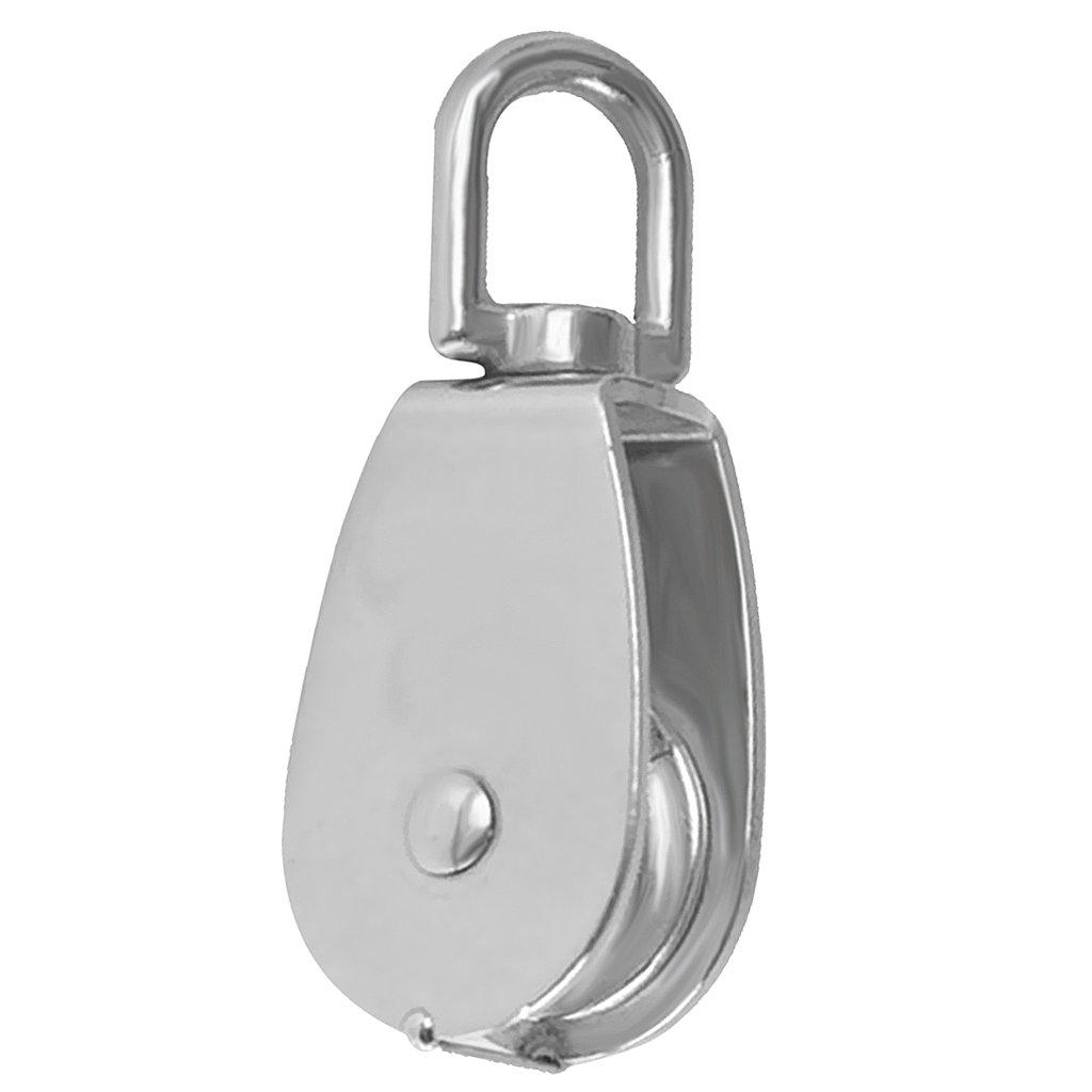 15mm Almencla Edelstahl Umlenkrolle Seilrolle Drahtseil Stahlseil Umlenkblock Seilblock