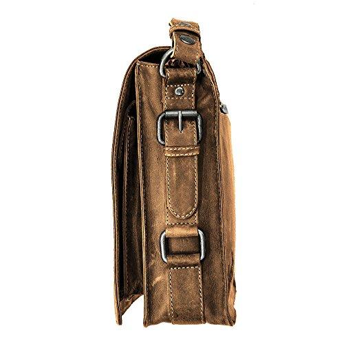 Inn Large Piel Hombro Hombre Jack's Marrón Vintage Al De Otra 54 Para Bolso qxxdgC