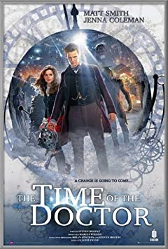 Doctor Who – Framed TV Show Poster Print 2013 Christmas Special – The Time of The Doctor Dr. Who – Matt Smith Size 24 inches x 36 inches