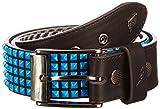 Lowlife Devoid Black Neon Blue Studs Studded Belt LL509 Large
