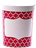 ice cream labels - Simply Baked Paper To-go Food Cup with Lid, 32 oz. Capacity, Pack of 3, For Soup, Ice Cream and more, Scarlet Quadrafoil